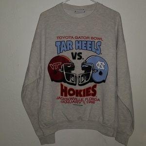 '98 Toyota Gator Bowl Tar Heels Vs. Hokies Sweater